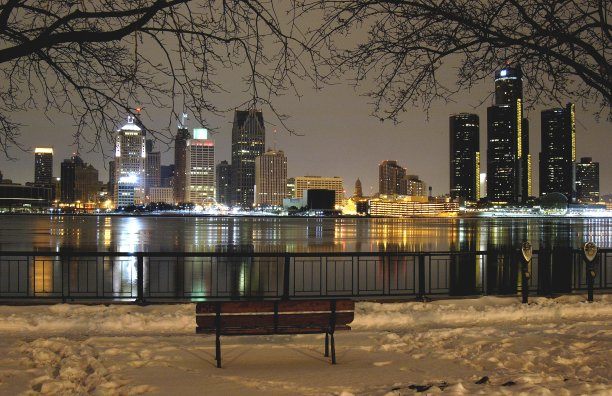 City on the Straits from across the Detroit River